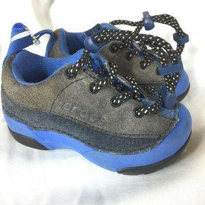 Crocs Suede Baby Shoes 4 C Gray Blue